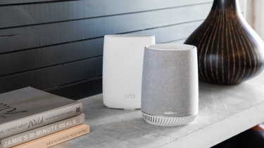 The Orbi Voice works with standard Orbi hubs.