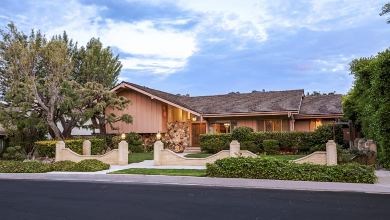 """The home which featured in the opening and closing scenes of """"The Brady Bunch""""  was listed for sale for $1.885 million."""