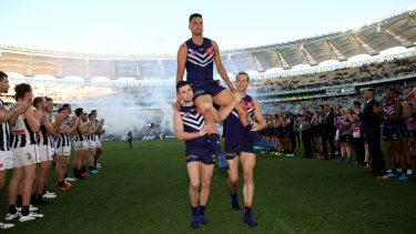 Fremantle increased its average home attendance by 30 per cent in 2018 at Optus Stadium.