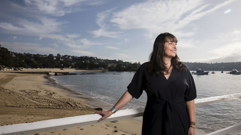 Catriona Pollard, founder of CP Communications, at Balmoral Beach in Sydney.