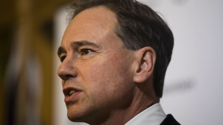 Health Minister Greg Hunt is holding crisis talks with doctors about the government's My Health program.