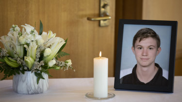 Funeral of Campbell High student Adriaan Roodt.
