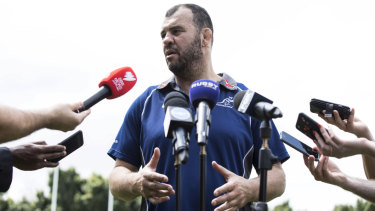 Trust and faith: Michael Cheika is backing his staff after a poor season for the gold jersey.