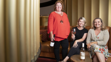 Fran Marshall, Sarah McDougall and Carla Rodeghiero will host the inaugural Canberra Women in Wine Dinner.