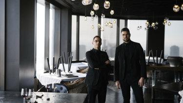 Vue de Monde head sommelier Dorian Guillon (left) and wine director Carlos Santos.