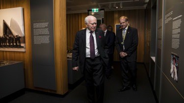 Former Prime Minister John Howard at the opening of the Howard Library at Old Parliament House in Canberra on December 4, 2018.
