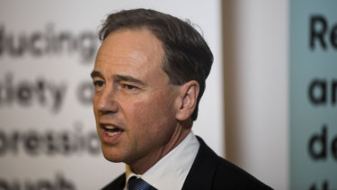 Health Minister Greg Hunt will re-draft the My Health record legislation.