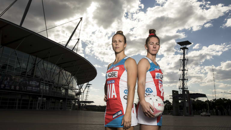 Sticking strong: Paige Hadley and Abbey McCulloch stayed at the Swifts when most of their teammates departed.