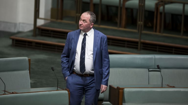 Not setting the world on fire: Barnaby Joyce.