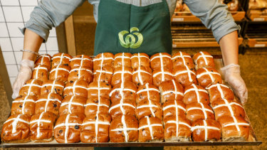 Woolworths brought out the hot cross buns early.