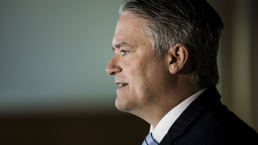 Finance Minister Mathias Cormann at Parliament House on Tuesday.