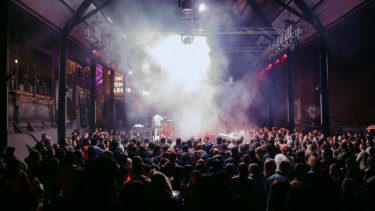DarkLab's new outdoor venue, Cathedral.