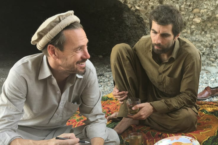 Director Benjamin Gilmour (left) and actor Sam Smith while making Jirga in Afghanistan.