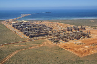Chevron's Gorgon LNG plant on Barrow Island off WA.