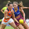 Giants fall short as Lions roar in closely-contested AFLW opener