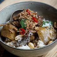 Beef cheekmassaman curry.