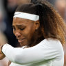 Tearful Serena Williams retires from Wimbledon after first-round injury