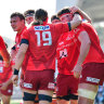 The Sunwolves have had to remain in Japan due to the outbreak of COVID-19.