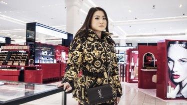 Jacqueline Lam shopping at David Jones' flagship Elizabeth Street store.