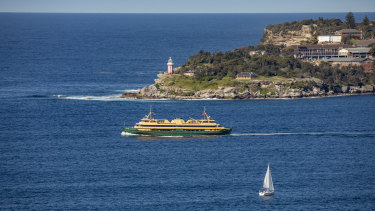 The Manly ferry passing the Heads.