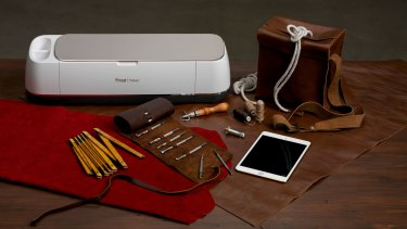 The Cricut Maker connects to your device via Bluetooth and can cut a range of materials, including leather.