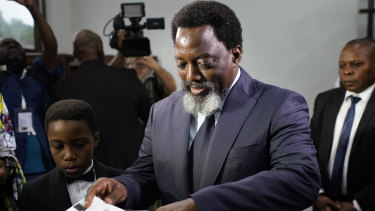 There are concerns that former Congolese president Joseph Kabila, pictured on December 30, will continue to influence the new government.