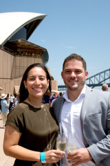 New Australian couple David Hernadez and Mariana Monsalve, came from Venezuela and now live in Zetland.