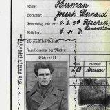 German POW identification card for Joseph Bernard Herman, 1944.