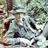 Strange when he was a machine gunner in Phuoc Toi, Vietnam.