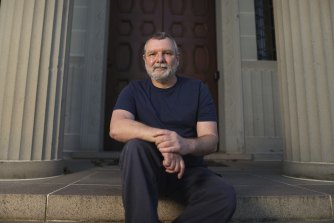 Thorsten Kaeding on the steps of the National Film and Sound Archive.