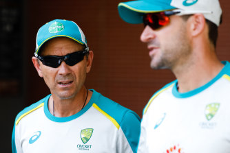 Justin Langer, left, has been asked to take more of a back seat, strategic role.