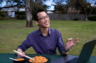 Eddie Woo talks kids, money and the hypercorrection effect at a park near his home in Sydney.