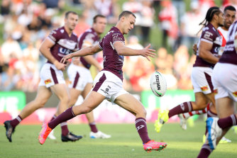 Manly skipper Daly Cherry-Evans will have to kick his side to victory.
