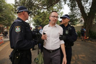 Greens MP David Shoebridge was arrested on December 19.