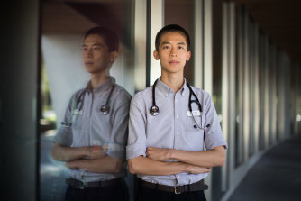 Kevin Shi, 22, says he and many of his colleagues are ready to answer the state's call for help ahead of the coronavirus peak in May or June.