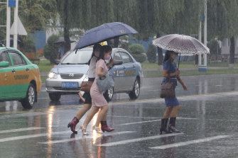 Torrential rains have lashed North Korea.