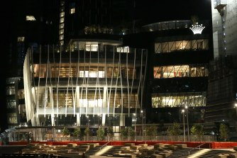 The lights are on but no one's home at Sydney's $2.2 billion Crown Casino this week.