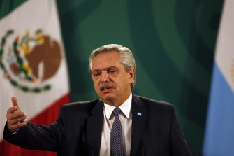 Argentina's President Alberto Fernández has tested positive to COVID but is awaiting confirmation of a further test.