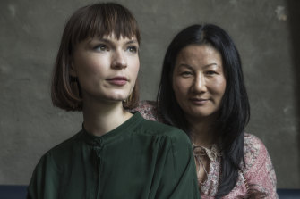 Actress Tilda Cobham-Hervey, left,  and director Unjoo Moon. Tilda will play Helen Reddy who became a star with the feminist anthem I Am Woman in the 1970s.