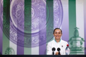 Back at Wimbledon: Ashleigh Barty.