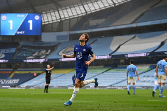 Marcos Alonso and Chelsea beat City and put off their title celebrations for at least a day.