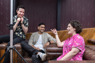 Did you hear the one about comedians actually getting a festival? Nath Valvo, Dilruk Jayasinha and Jude Perl enjoy the launch.