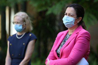 Queensland's Chief Health Officer Jeannette Young and Premier Annastacia Palaszczuk.