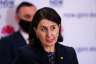 NSW Premier Gladys Berejiklian has announced the state's path out of lockdown.