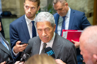 Under pressure: Winston Peters, NZ Deputy Prime Minister.
