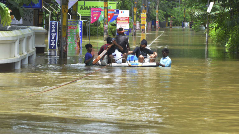 More than 300 people have died in the floods.
