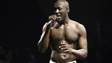 Grime artist Stormzy called out Theresa May at the Brit Awards.