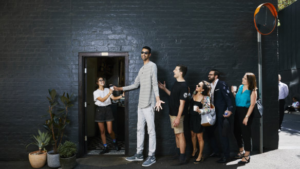 It's all smiles as Australia's tallest man takes life in his stride