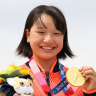 The 13-year-old who made history with gold for Japan
