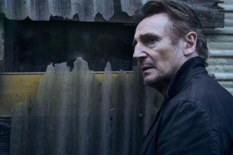 Liam Neeson as Travis Block in the film Blacklight.